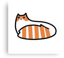 Striped Tail Kitty Canvas Print