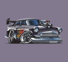 Cartoon Retro Hot Rod Kids Tee