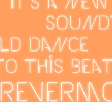 Taylor Swift- Welcome to New York lyrics font 1989 Sticker