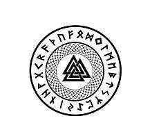 Valknut - Wotans Knot - Odin Rune Photographic Print