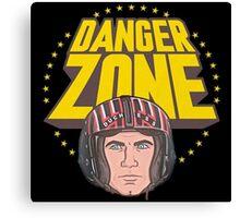 Archer Danger Zone Topgun Head Canvas Print