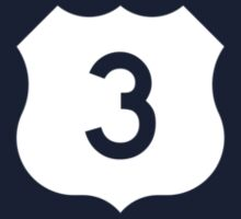 US Route 3 Sign, USA One Piece - Short Sleeve
