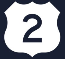 US Route 2 Sign, USA Kids Tee