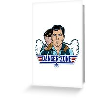 Archer Danger Zone TOPGUN Greeting Card
