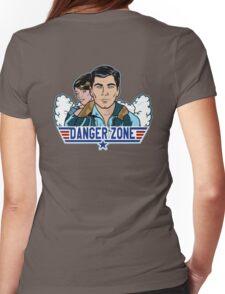 Archer Danger Zone TOPGUN Womens Fitted T-Shirt
