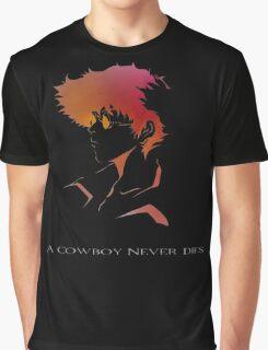 Cowboy Bebop - Spike Spiegel - A Cowboy Never Dies Graphic T-Shirt