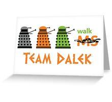 Dalek Parade Walk Greeting Card
