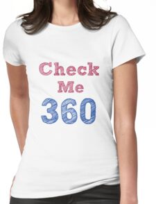 Check Me 360 - textwork Womens Fitted T-Shirt