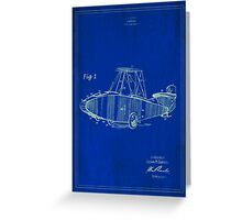 TIR-Airplane - Blue Poster Greeting Card