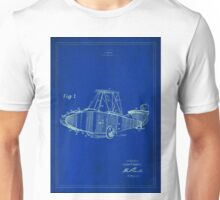Patent Image - Airplane - Blue Poster Unisex T-Shirt