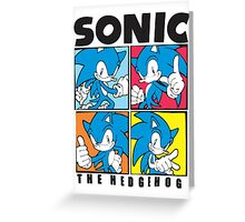 Sonic The Hedgehog 4 in 1 Greeting Card