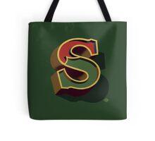 December Green - Letter S Tote Bag