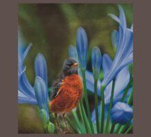 Robin in flowers Baby Tee