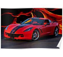 2015 Corvette Coupe Poster