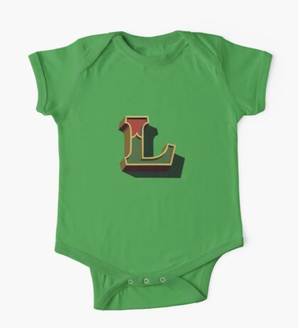 December Green - Letter L One Piece - Short Sleeve