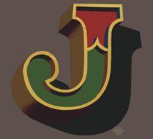 December Green - Letter J Baby Tee