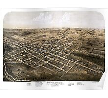 Birds eye view of the city of Coldwater, Michigan - 1868 Poster