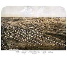 Birds eye view of the city of Coldwater, Michigan - 1868 Photographic Print