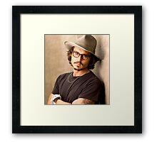 Johnny Depp Cool Framed Print