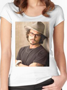 Johnny Depp Cool Women's Fitted Scoop T-Shirt