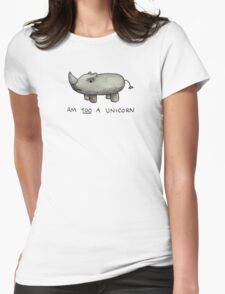Am TOO a Unicorn Womens Fitted T-Shirt