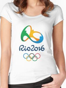 2016 summer olympics Women's Fitted Scoop T-Shirt