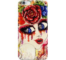 Girl in Flower Crown iPhone Case/Skin