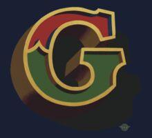 December Green - Letter G Kids Tee