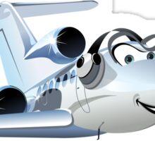 Cartoon Civil utility airplane Sticker