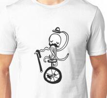 Unicycle Octopus Unisex T-Shirt