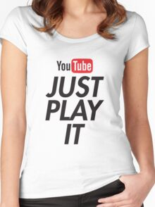 you tube nike Women's Fitted Scoop T-Shirt