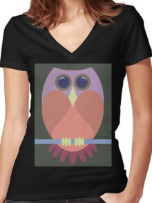 A BLUSHING OWL Women's Fitted V-Neck T-Shirt