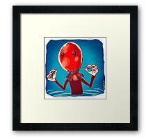 baloon head Framed Print