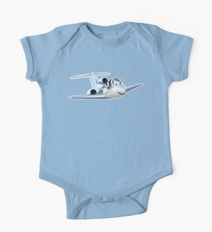 Cartoon Civil utility airplane One Piece - Short Sleeve