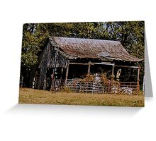 """""""Old Timer's Barn (colored version)""""... prints and products Greeting Card"""