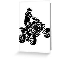Quad ATV Greeting Card