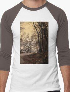 forest in winter Men's Baseball ¾ T-Shirt