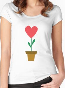 heart plant Women's Fitted Scoop T-Shirt