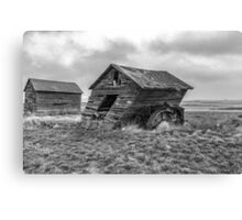 Owl House Support - BW Canvas Print