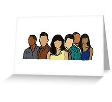 New Girl in Color Greeting Card