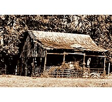 """Old Timer's Barn (B&W with a touch of brown)""... prints and products Photographic Print"