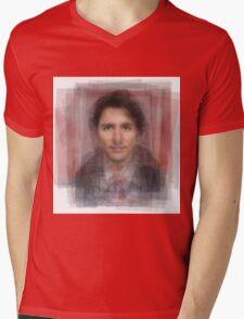 Justin Trudeau Portrait Mens V-Neck T-Shirt