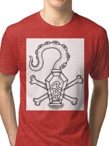 Davy Jones' Locker: Memento Mori Tri-blend T-Shirt
