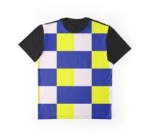 Squares & Rectangle (Blue, Yellow, White) Graphic T-Shirt