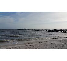 Pier at Long Beach, MS  Photographic Print
