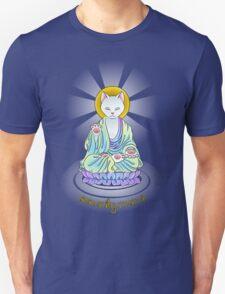 Serenity Meow Buddha Cat Unisex T-Shirt