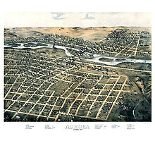 Aurora - Illinois - 1867 Photographic Print