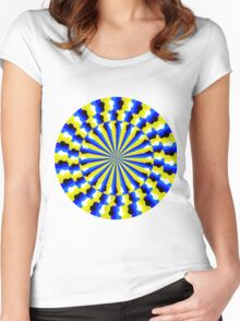Vasarely Spiral Women's Fitted Scoop T-Shirt