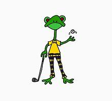 Cool Funny Frog Golfing Unisex T-Shirt