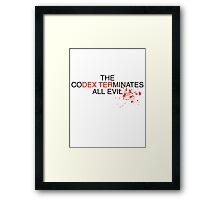 Dexters Codex Framed Print